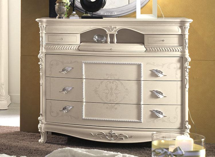 Luxus Bett Eco Leder Kommode Nachttische Schrank Schlafzimmer