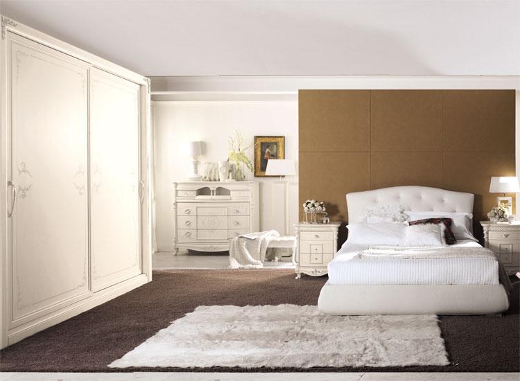 Luxus Bett Eco-Leder Kommode Nachttische Schrank Schlafzimmer