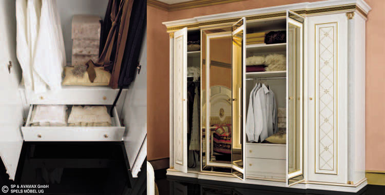 nachttisch wei gold zeus hochglanz schlafzimmer klassik. Black Bedroom Furniture Sets. Home Design Ideas