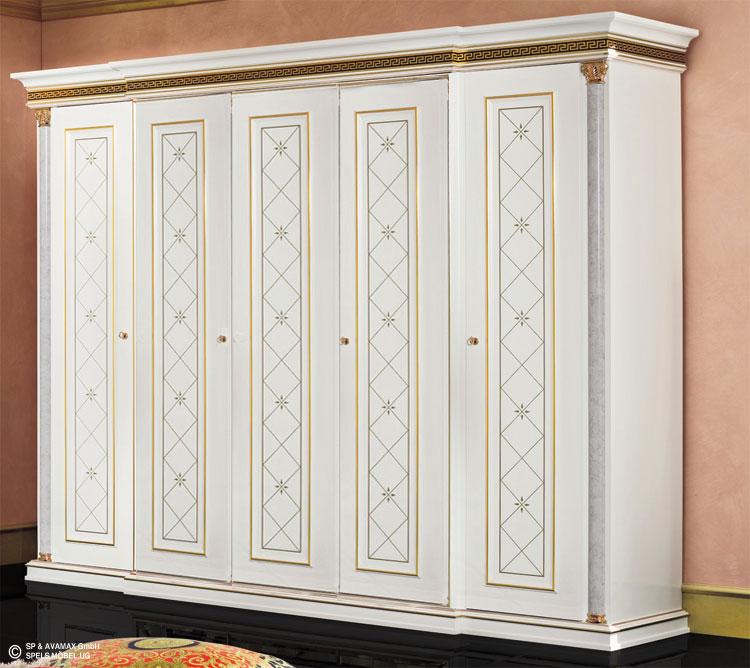 Kommode wei gold zeus hochglanz schlafzimmer klassik stil - Hochglanz schlafzimmer italien ...