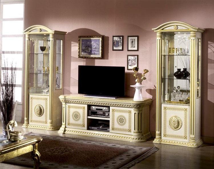 luxus essgruppe rossella eco-leder 6 stühle schwarz gold ... - Wohnzimmer Schwarz Gold