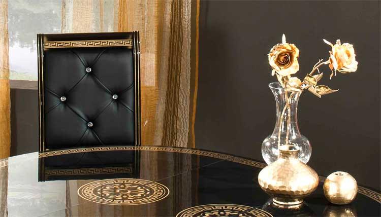 couchtisch schwarz gold hochglanz wohnzimmer klassische ... - Wohnzimmer Schwarz Gold
