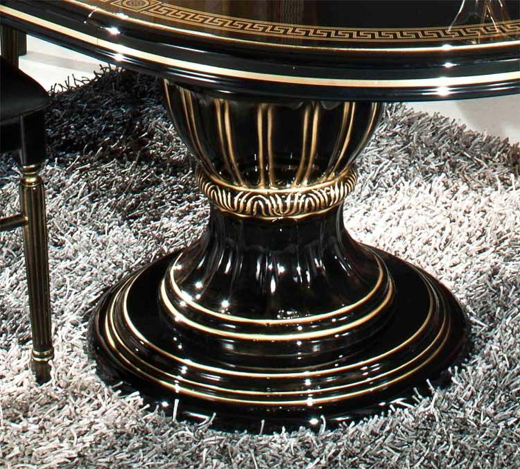 Esstisch Schwarz Gold ~ Esstisch Rund Ausz Schwarz Gold Wohnzimmer Klassische Italienische Stil Möbel