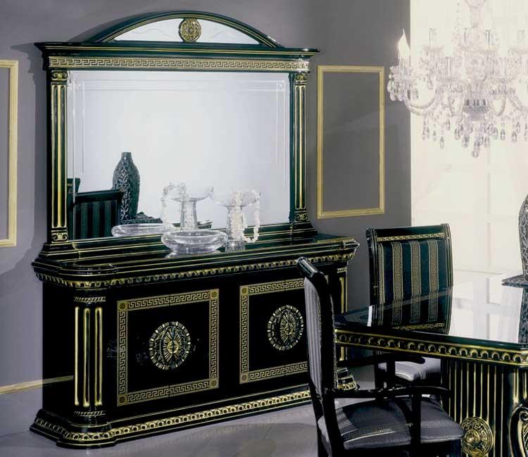 Luxus anrichte 4 tr rossella schwarz gold wohnzimmer for Exklusive wohnzimmer tische