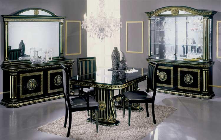 lampentisch schwarz gold hochglanz wohnzimmer klassische italienische stil m bel. Black Bedroom Furniture Sets. Home Design Ideas